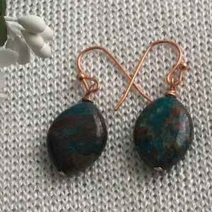 New handmade earrings with Jasper beads.